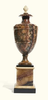 A large scale George III Blue John urn, circa 1790…