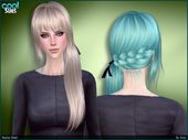 Cute side tail with braided back for your sims.  Found in TSR Category 'Sims…