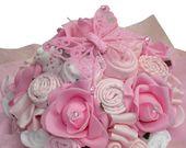 Personalisierte neue Babygeschenk, Baby Bouquet, Baby Shower Geschenk, Baby Kleidung Bouquet, Pink Baby Geschenk, Baby Girl, Geschenk, 19 Artikel von Baby-Kleidung   – Party ideen