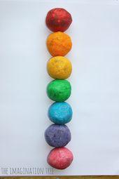 Rainbow Glitter Salt Dough