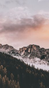samsung wallpaper Free Downaload Mountains, tree, nature, clouds, autumn Wallpap …