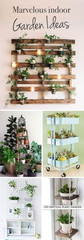 20 wonderful garden ideas for the interior against lack of space or inclement weather!