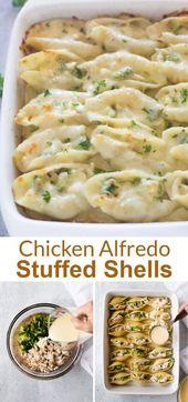 Chicken and Broccoli Alfredo Stuffed Shells – Nika Sokol