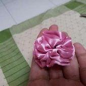 Ruffled Ribbon Flower