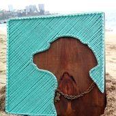 Labrador String Kunst, Türkis, Wandkunst, Inneneinrichtungen, Labrador Kunst, Hund String Kun…