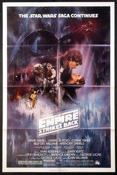 The Empire Strikes Back 1980 Original One Sheet Size 27x41 Movie Poster Star Wars Poster Original Movie Posters Star Wars Movies Posters
