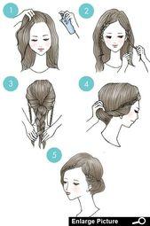 Diese 20 süßen Frisuren sind so einfach, dass jeder sie machen kann   – Hair – Kleid