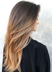Cheveux longs coupés pour les femmes   – Frisuren