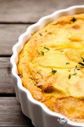 Pastel de papa al horno tocino crema paso a paso – RECETAS – #cream #horno …   – Patatas