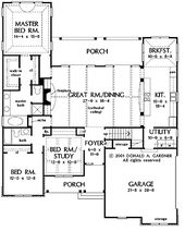 Floor Plans AFLFPW20077 – 1 Story French Country H…