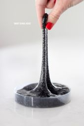 DIY Slime BLACK SAND SLIME! Sand Slime - made with only 4 ingredients (and NO food colorin...