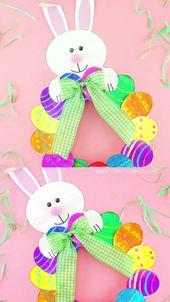Comment faire une couronne d'oeufs de Pâques en assiette en papier – #craft #Easter #EGG #paper #Plate …   – Joshua