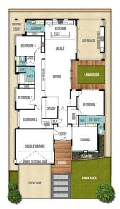 Single Storey House Design Plan   The Moore (4bed, 2bath, 2car) |  Home  Floorplans: 1 Story | Pinterest | Perth, House And Architecture