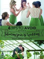 6 Tipps, die Sie beim Aufnehmen Ihrer ersten Hochzeit vermeiden sollten