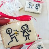 Cookies- Cookies  Cookies embellished for a wedding proposal   -#marriageproposal…