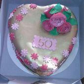 Onze taart voor mijn ouders 50 jaar getrouwd.