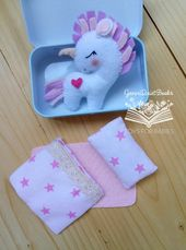 Felt White Stuffed Unicorn Gift, Altoid Unicorn Tin Toy, Felt Baby Toys, Travel Pocket Miniature Toy, Unicorn Birthday Party, Kawaii Gift