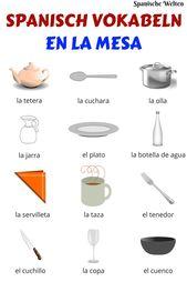 Spanisch Vokabeln: Auf dem Tisch