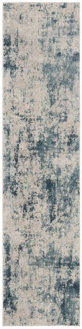 Safavieh Princeton 716 Blue / Beige Power Loomed 65% Polyester Pile 12% Cotton 10% Viscose 9.5 % Warp Yarn 3.5%Latex Cotton Weft 2ft x 8ft Rug PRN716M-28 889048548862
