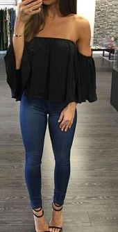 Jonesy – Schulterfreies Chiffontop – Summer Fashion Ideas   – Sommer Dresses Mode