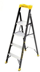 Gorilla 5 5ft Fiberglass Hybrid Folding Step Ladder 250 Lb Capacity 10 Ft Reach Step Ladders Ladder Repair And Maintenance