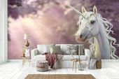3D Pink Sun Unicorn Wall Mural Wallpaper 15 – Jessartdecoration