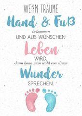 Baby Cards Babykarte mit süßen Füßen