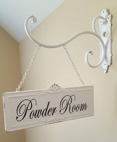 4.5″ x 11″ Rectangular Metal Room Sign and Bracket with Custom Lettering