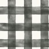 Magnolia Home by Joanna Gaines 56 sq. ft. Black and White Watercolor Check Removable Wallpaper MH1516