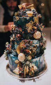100 hübsche Hochzeitstorten, die Sie inspirieren – Kuchen – #Cake #the #Hochzei …   – Hochzeit