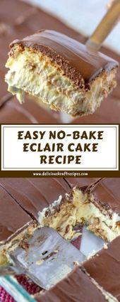 EASY NO-BAKE ECLAIR CAKE RECIPE   – backen