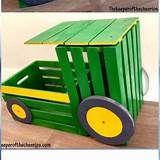 DIY Holzkiste Traktor Spielzeugkiste