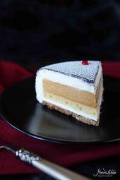 Équinoxe – Vanille-Karamell Torte mit Knusperbode…
