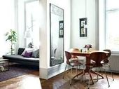 Image result for mirror behind sofa