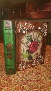 Haunted #Hobbies: #Decopage #Book #Box basket and box  – Wohnaccessoires