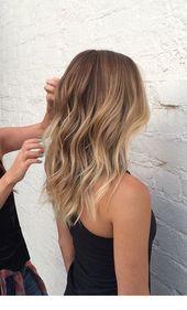 Highlights für einen mittleren Schnitt Inspirierende Damen #damen #einen #high … – Haare