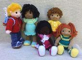 Abspielen Pal Dolls Strickanleitung von Rainebo