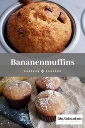 Rezept für Muffins aus reifen Bananen mit Öl im Teig. Schnelle und einfache Ba … – Vegan backen