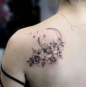 26 Fantastische Floral Schulter Tattoo Design-Ideen für Frau –  – Tattoo Art