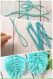 How to make Macrame Feather Earrings