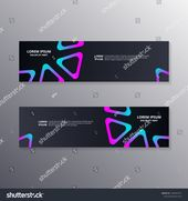 Technology Banner Template Abstract Dark Neon Stock Vector (Royalty Free) 1546943147