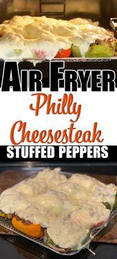 Philly Cheesesteak Gefüllte Paprikaschoten direkt in der Luftfritteuse. Herzhaft, locker, …   – Air fryer