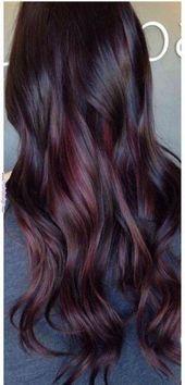 48+ Trendy Hair Color Ideas For Brunettes Dark Colour Ombre #hair #haircolorbala… –  #brune…