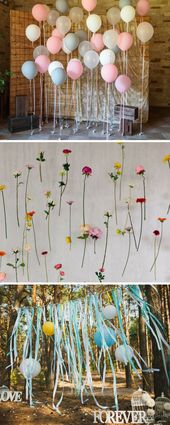 Photo booth for the wedding: 40 cool photo wall ideas