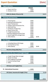 Price Quotation Template For Word  Download