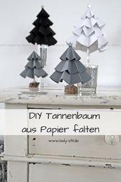 DIY Tannenbaum aus Pappe
