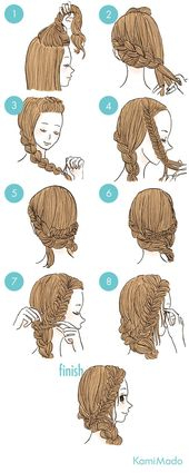 Wissen Sie, ich suche immer nach einfachen Frisuren, aber das scheint sehr elegant und einfach zu sein!