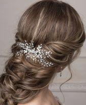 Bridal hair comb Bridal hair accessories Wedding hair piece Bridal headpiece Crystal hair comb Floral hair piece Rhinestone headpiece