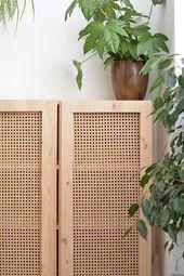 DIY cane cabinet