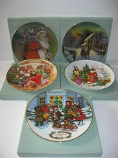 Vintage Avon Collector Christmas Plates Christmas Wall Hanger Plates Org Boxes Lot Of 5 Christmas Plates Plates Vintage Avon